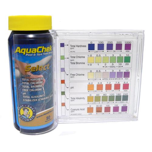 Aquachek Select 7 In 1 Pool Test Strip Kit
