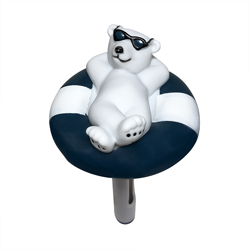 Cool Blue Polar Bear Pool Spa Hot Tub Floating Thermometer