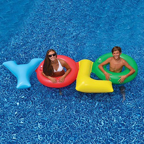 Swimline Yolo 2 Person Double Ring Float