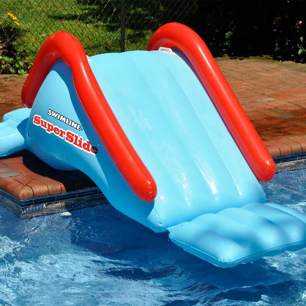 Swimline super slide inflatable pool slide for Garden pool inflatable
