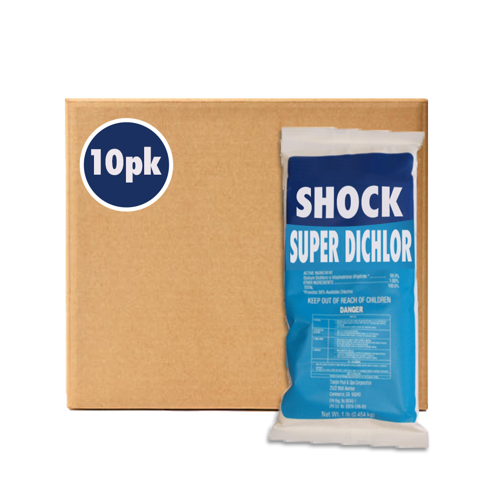 1lb x 10 Bags Swimming Pool 99% Sodium Dichlor Fast Dissolving Shock