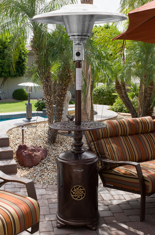 Az Patio Heaters Outdoor Cast Aluminum Patio Heater With Scroll Design