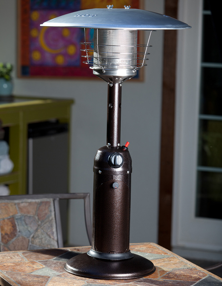 AZ Patio Heaters Table Top Patio Heater in Hammered Bronze