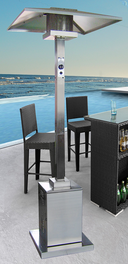 AZ Patio Heaters Outdoor Commercial Square Patio Heater In Stainless Steel