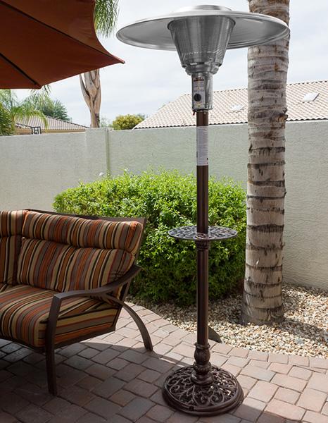 AZ Patio Heaters Outdoor Cast Aluminum Natural Gas Patio Heater