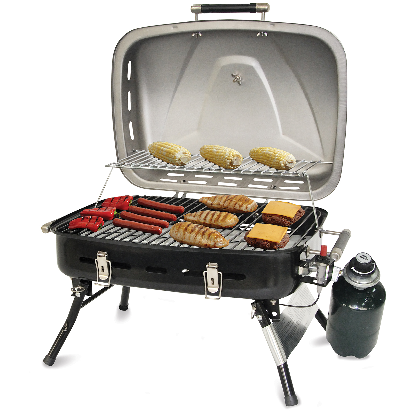 uniflame stainless steel portable outdoor barbecue gas grill. Black Bedroom Furniture Sets. Home Design Ideas