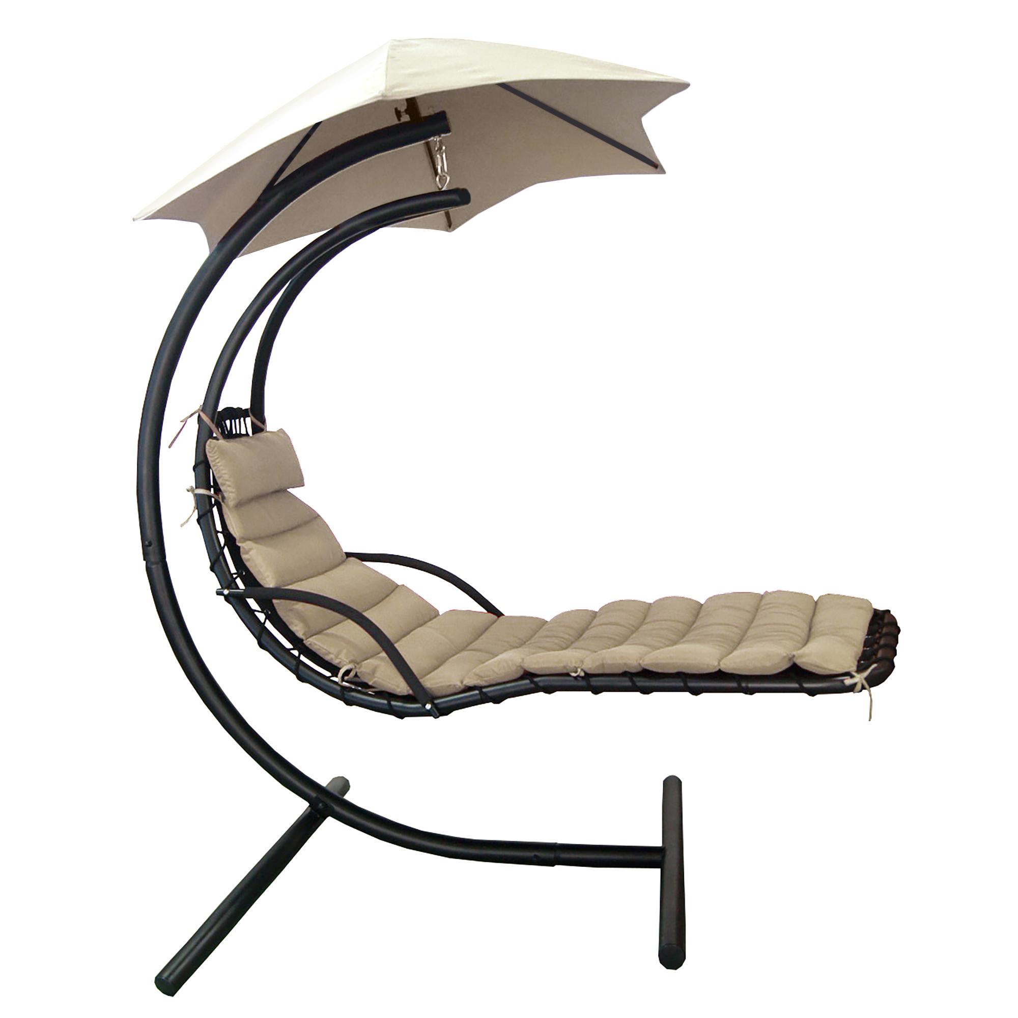 Heat Pump Canopy : Island umbrella retreat hanging lounge w shade
