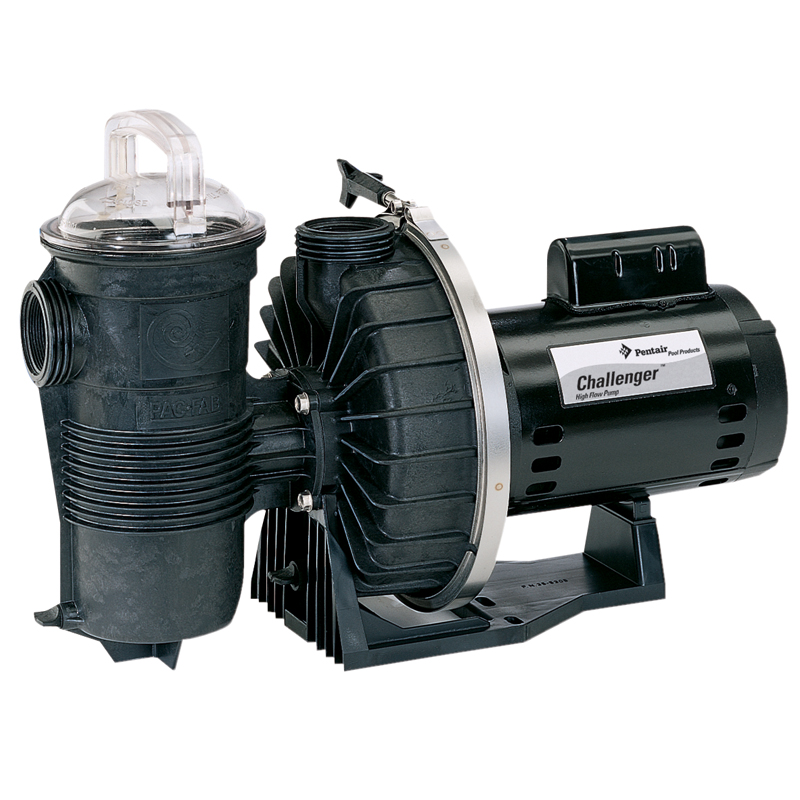 Pentair challenger high flow 1 hp in ground pool pump for Pentair 1 hp pool pump motor