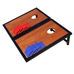 GoSports Premium Wood Black CornHole Set