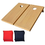 GoSports PRO Solid Wood CornHole Set