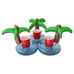 GoPong Palm Tree Floating Drink Holder 3 Pack
