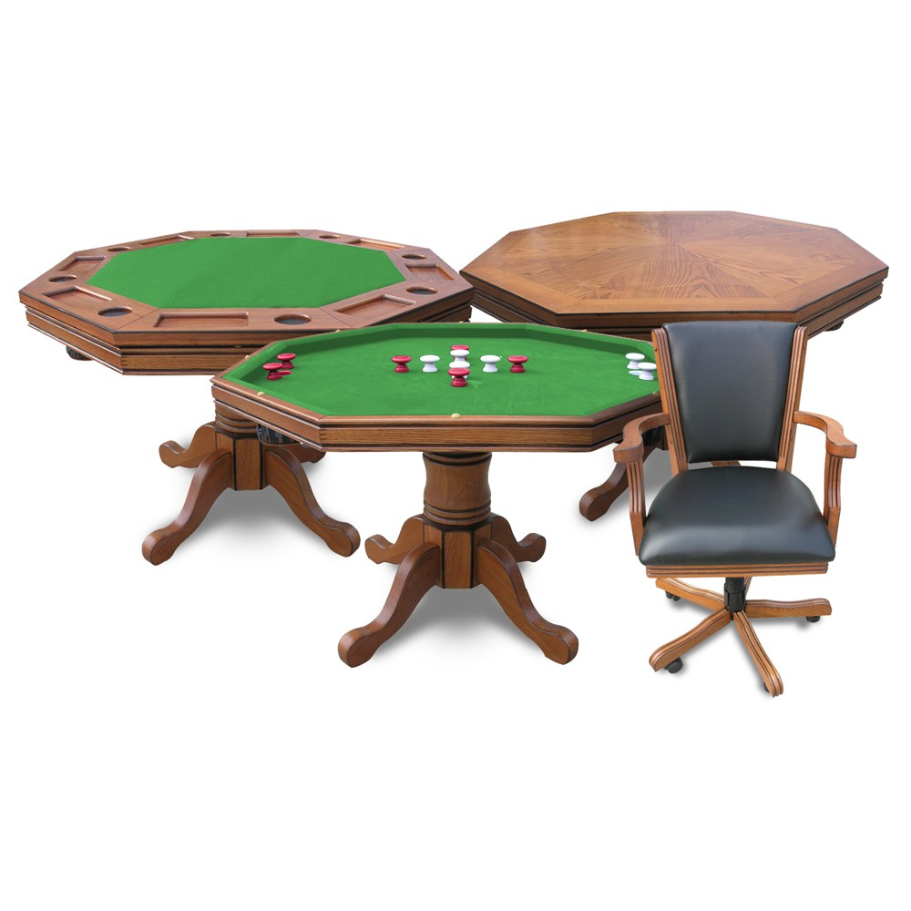 Carmelli kingston dark cherry 3 in 1 poker table bumper for Poolside table and chairs