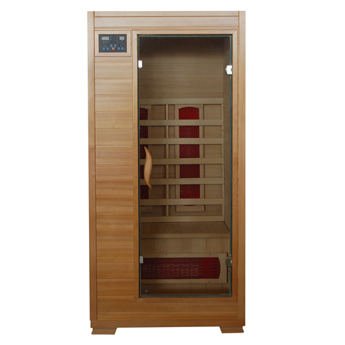 blue wave heatwave buena vista sauna1 person carbon heater hemlock. Black Bedroom Furniture Sets. Home Design Ideas