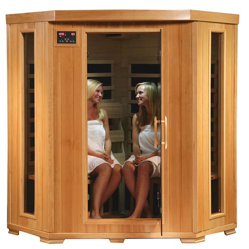 blue wave heatwave whistler sauna 4 person corner cedar. Black Bedroom Furniture Sets. Home Design Ideas