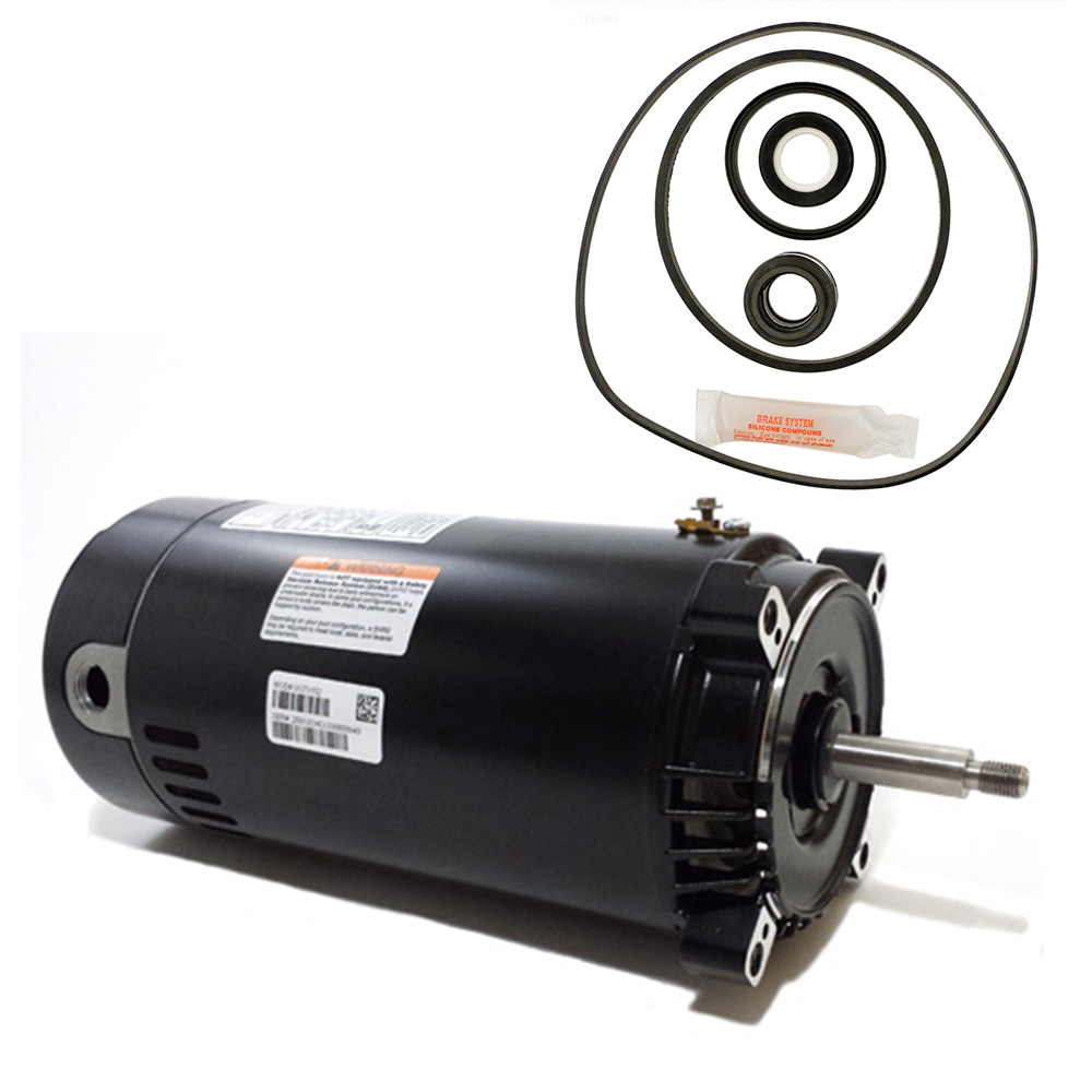Hayward max flo 1 5hp sp2810x15 replacement motor kit ao for Pool pump motors hayward