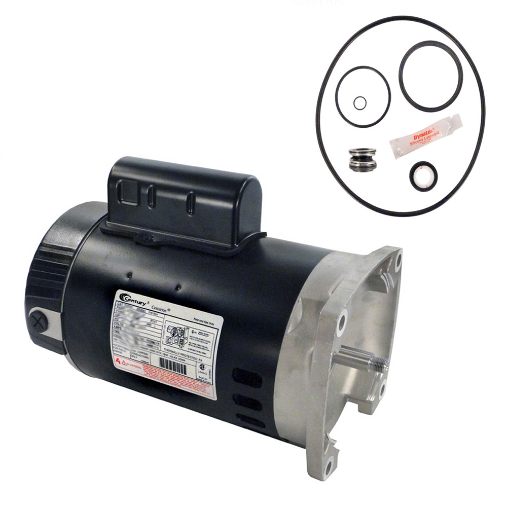 Pentair superflo 1hp 340038 replacement motor kit ao smith for Ao smith pool pump motors