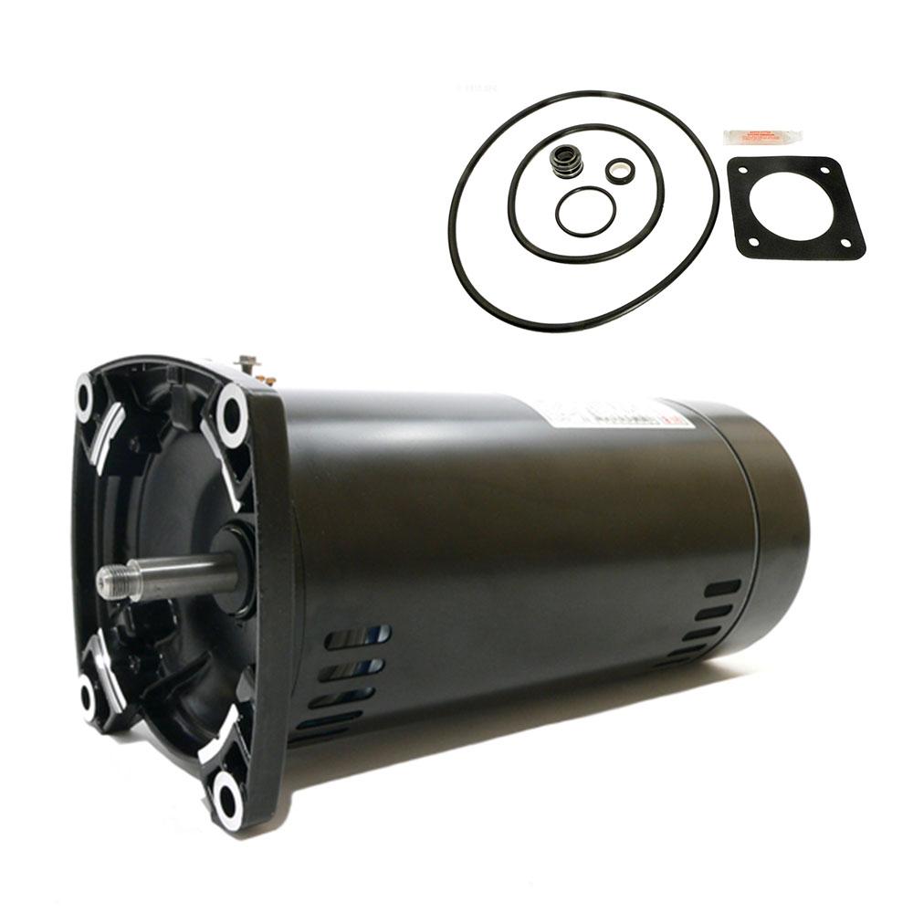 Sta rite dura glas 75hp p2r5d 181l replacement motor kit for Sta rite pump motor replacement