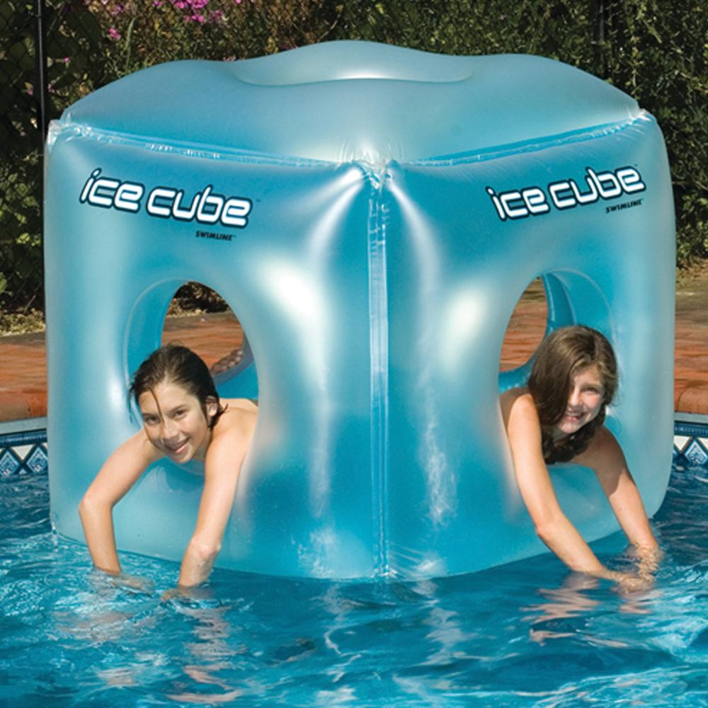 Swimline 49 square ice cube floating habitat for Cube miroir habitat