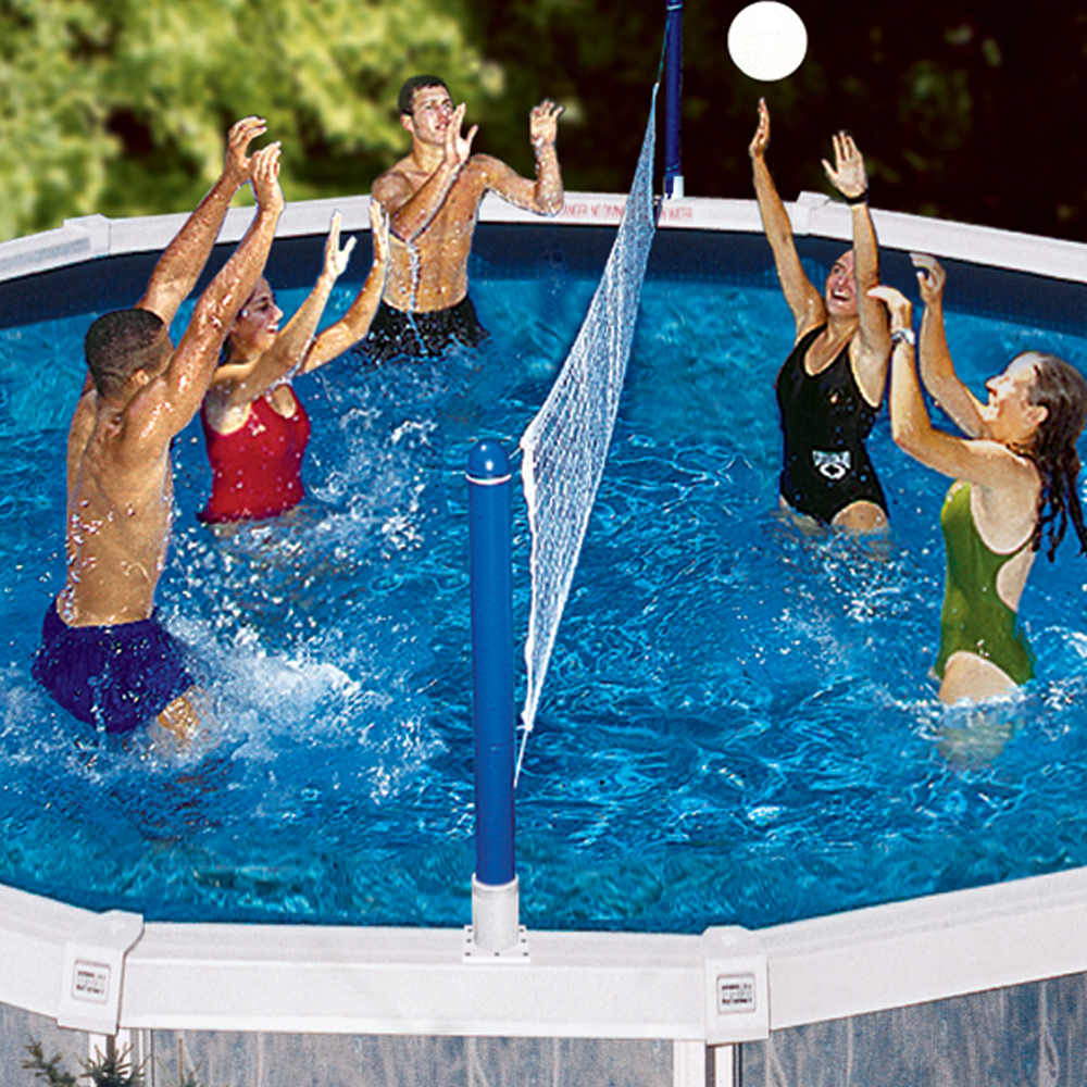 Swimline jammin cross pool volleyball above ground - Pool volleyball ...