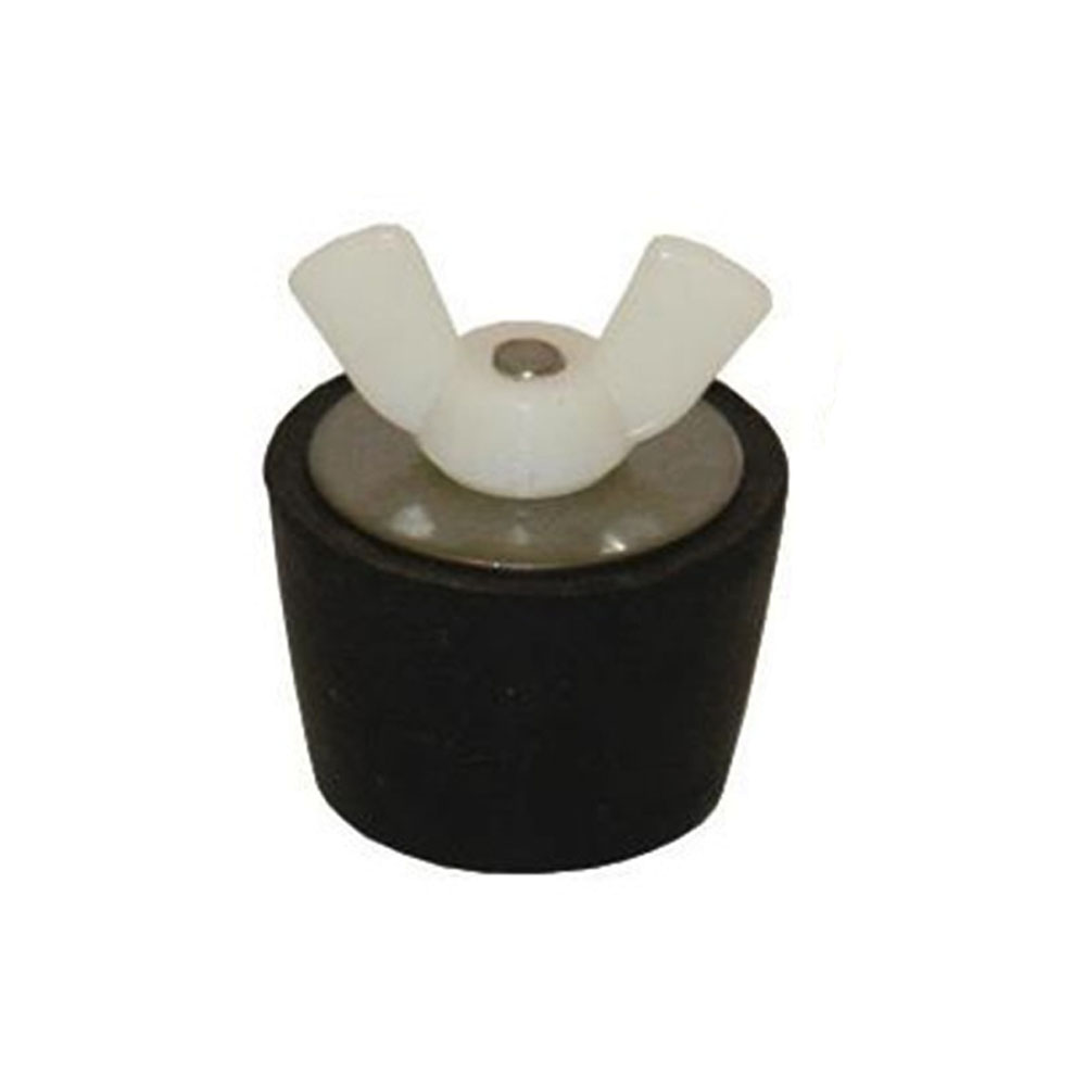 Winterizing rubber plug for quot pipe