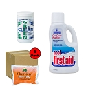 Algae Removing Kit w/ Green 2 Clean & Pool First Aid- Pools up to 15K Gallons