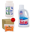 Algae Removing Kit w/ Green 2 Clean & Pool First Aid- Pools up to 30K Gallons