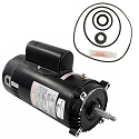 Hayward Max-Flo 2HP SP2815X20 Replacement Motor Kit AO Smith UST1202 w/ GO-KIT-1