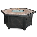 Endless Summer Outdoor Fire Table LP Gas with Decorative Tile Mantel
