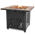 Endless Summer Outdoor Fire Table LP Gas with Slate Tile Mantel