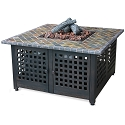 Endless Summer Outdoor Fire Table LP Gas with Slate Marble Mantel