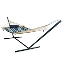 Island Umbrella Island Retreat 12-ft Hammock Set - Blue Cover