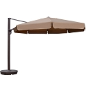 Island Umbrella Victoria 13-ft Octagonal Cantilever w/ Valance Patio Umbrella in Stone Sunbrella Acrylic