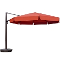Island Umbrella Victoria 13-ft Octagonal Cantilever w/ Valance Patio Umbrella in Terra Cotta Sunbrella Acrylic