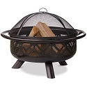 Endless Summer Outdoor Firebowl Oil Rubbed Bronze with Geometric Design