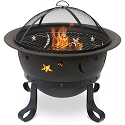 Endless Summer Outdoor Firebowl Oil Rubbed Bronze with Stars and Moons