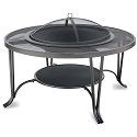 Endless Summer Outdoor Firebowl Black with Mesh Hearth