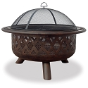 Endless Summer Outdoor Firebowl Oil Rubbed Bronze with Lattice Design