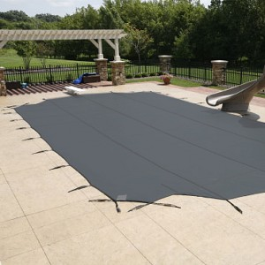 Arctic Armor 18x36 12yr Mesh Safety Pool Cover Grey Center