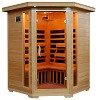 Blue Wave HeatWave SANTA FE Sauna 3 Person Carbon Heater Corner Hemlock