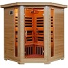 Blue Wave HeatWave TUCSON Sauna 4 Person Carbon Heater Corner Hemlock