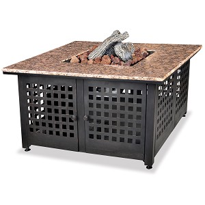 Endless Summer Outdoor Fire Table Lp Gas With Granite Mantel