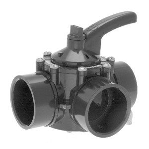 "Hayward 3-Way CPVC Diverter Valve 1.5""-2"""