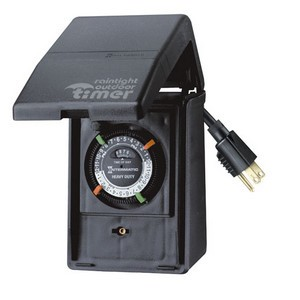 Intermatic P1100 Series Outdoor Timer with Small Plastic Enclosure