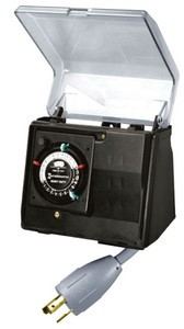 Intermatic P1100 Series Heavy-Duty Outdoor Timer with Twist-Lock Plug