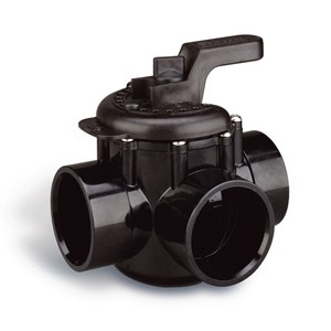 Pentair 3-Way PVC Diverter Valve 1.5''-2''