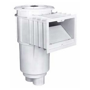 Pentair U-3 Skimmer White with White Lid & Frame, Slip, incl. Float and Check Valve, Basket