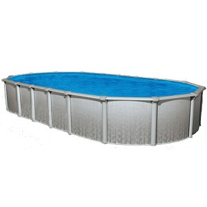 Sharkline heritage 12 39 x 17 39 oval x 52 above ground swimming pool for Consumer reviews above ground swimming pools