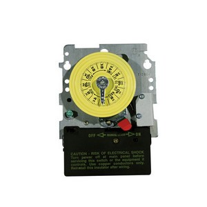 Intermatic T100 Series 208-277 V Time Switch Mechanism with DPST switch with Heater Protection