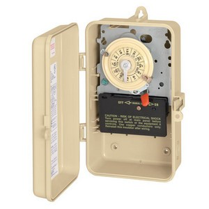 Intermatic T100 Series 125 V Time Switch in Gray Steel Case with DPST Switch