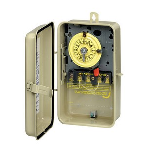 Intermatic T100 Series 208-277 V Time Switch in Gray Steal Case